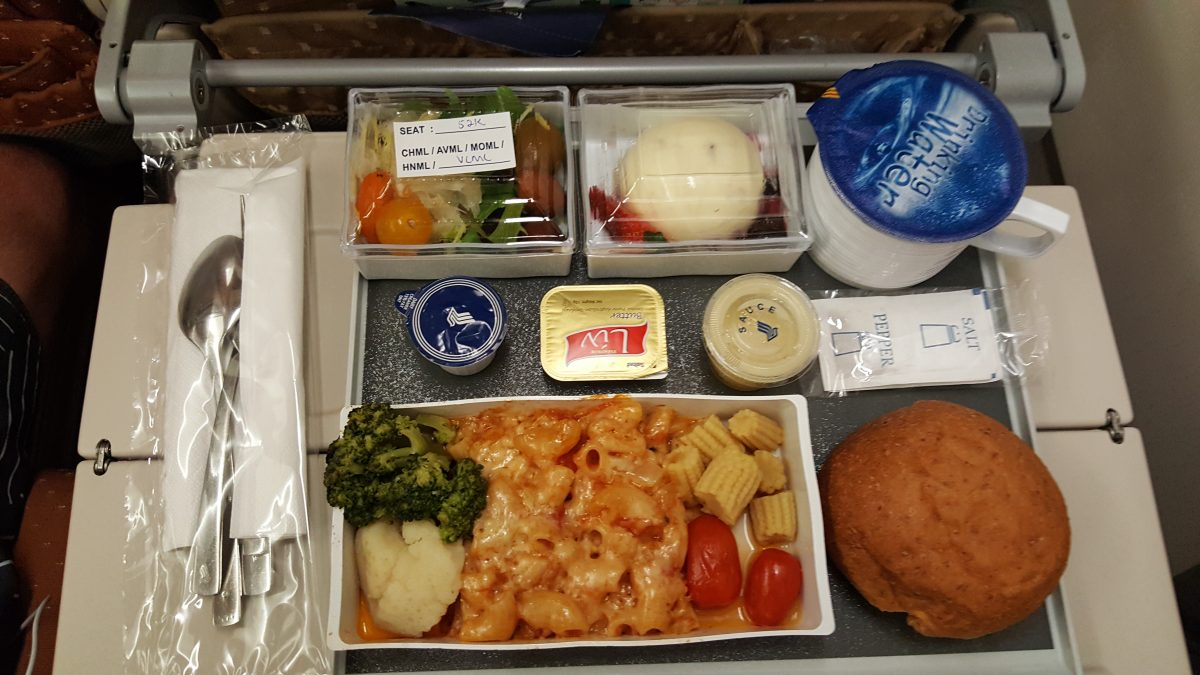 Singapore Airlines Lacto-Ovo vegetarian meal.