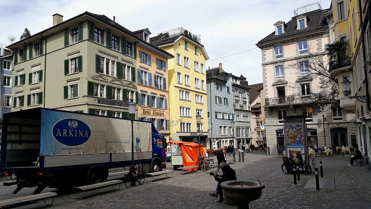 Budget guide to zrich sightseeing scientist augustinergasse is a picturesque pedestrian street in zrich here youll find flags and the first beautiful balconies that came to the city inspired by solutioingenieria Choice Image