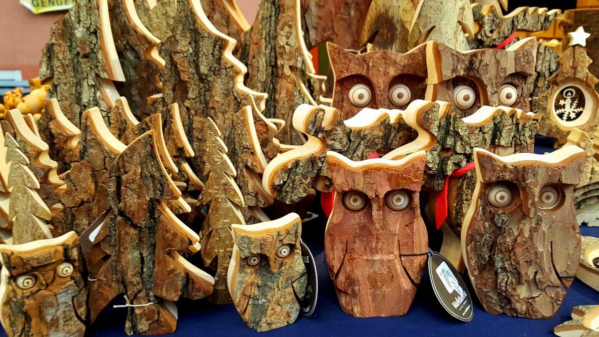 Wooden owls.