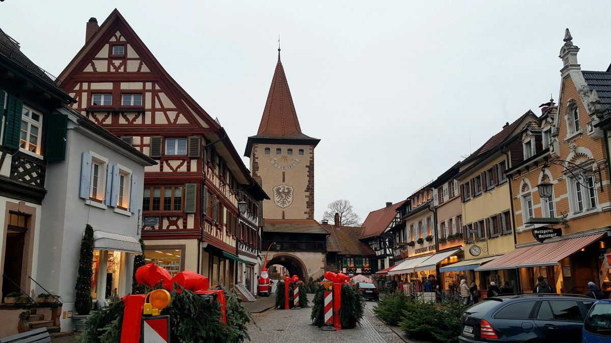 The Christmas market in Gengenbach, Germany.