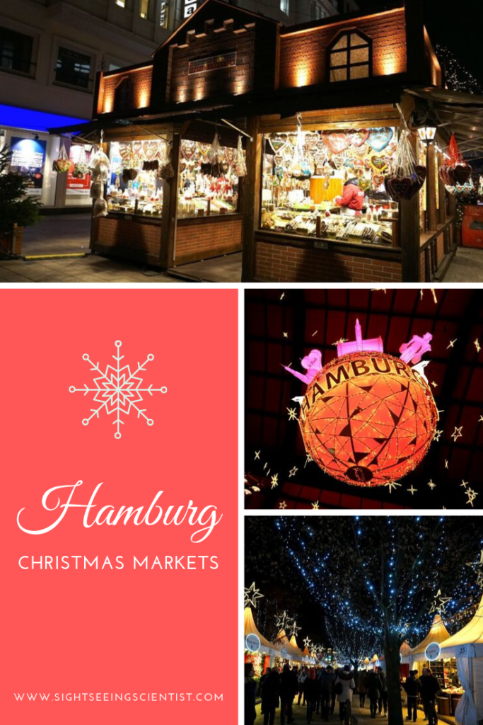 Hamburg Christmas markets pin.