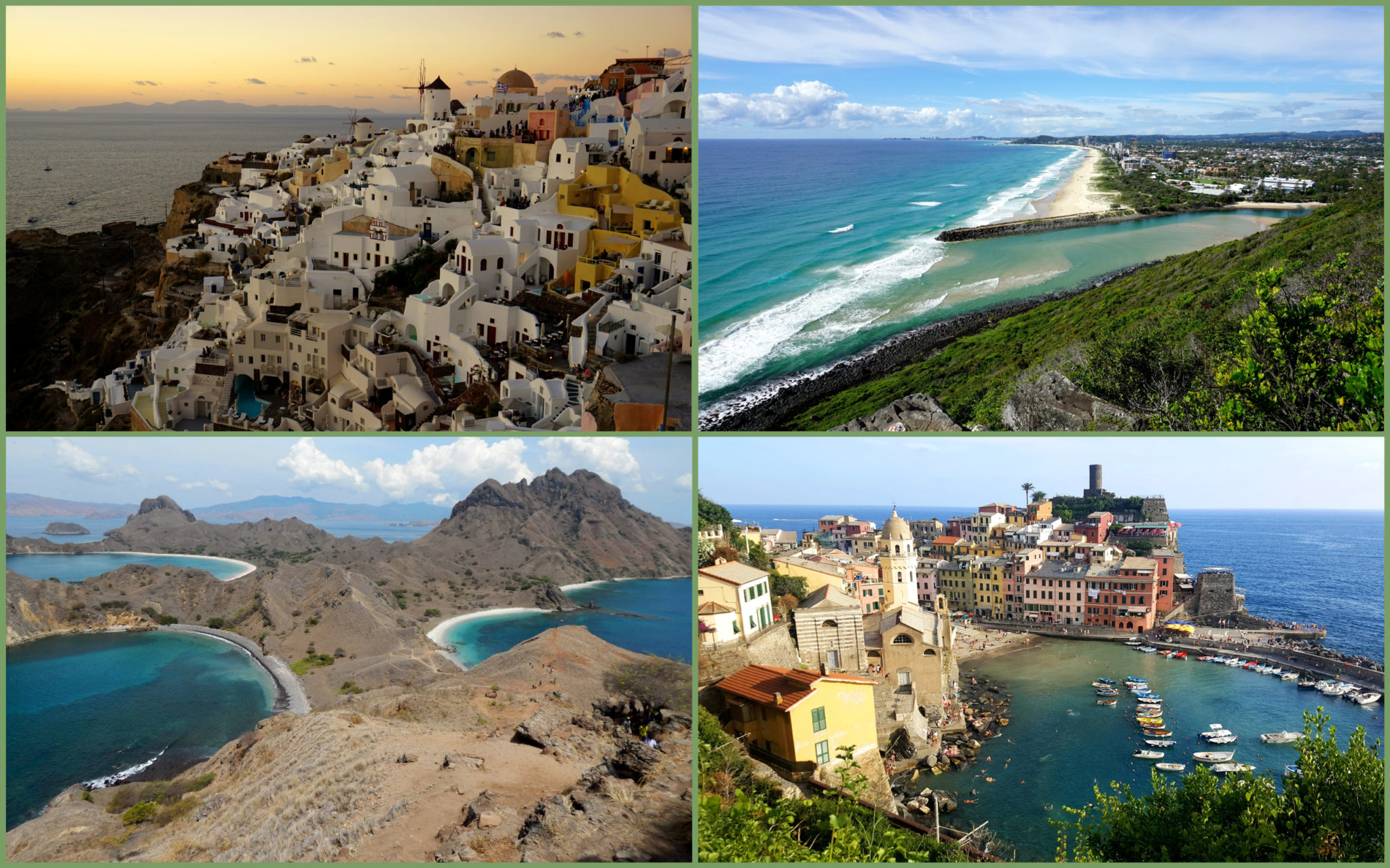 Some of my favourite destination include Greece, Australia, Indonesia and Italy.