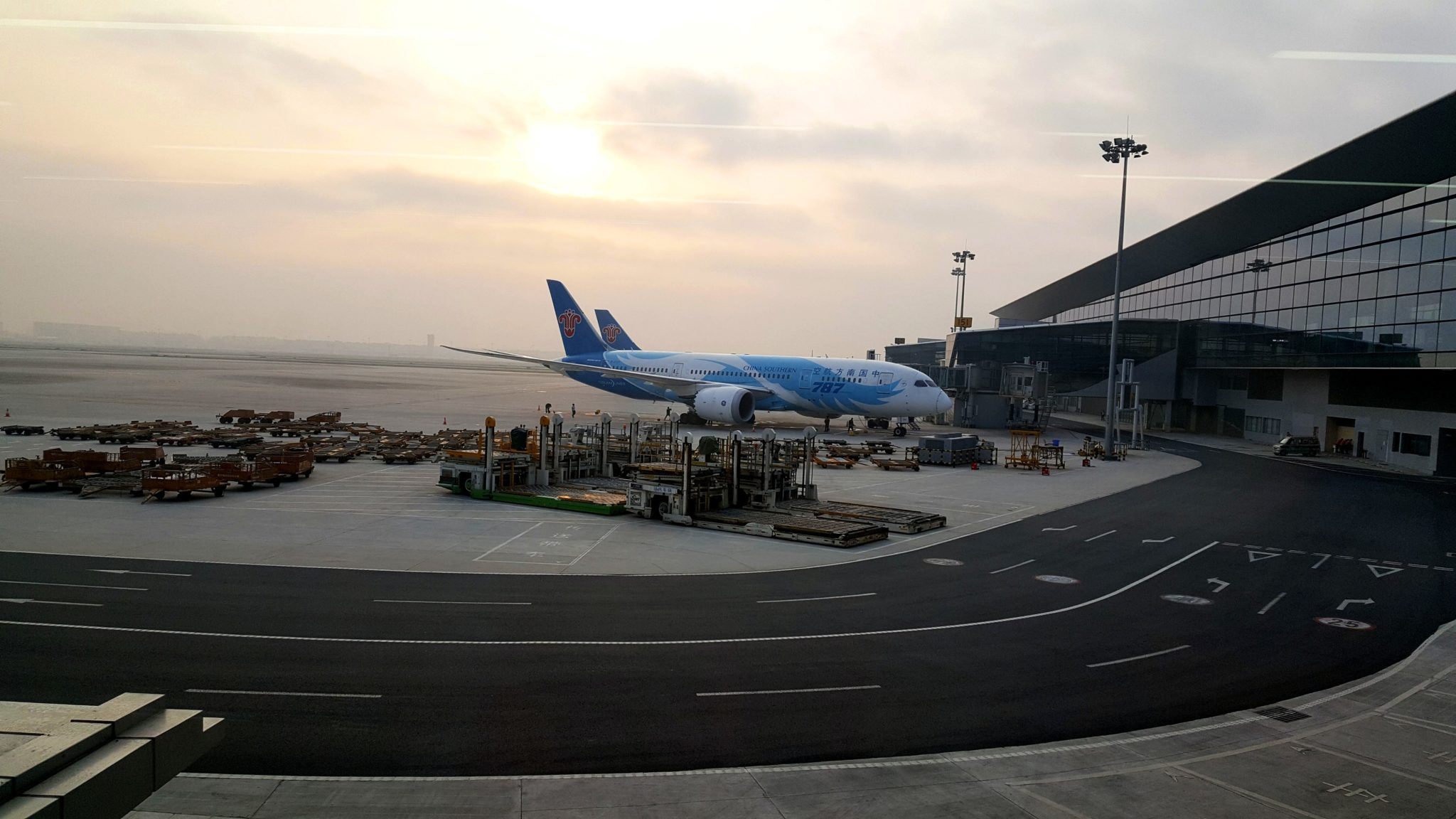 Baiyun International Airport in Guangzhou, China. I travelled through the airport in March and May.