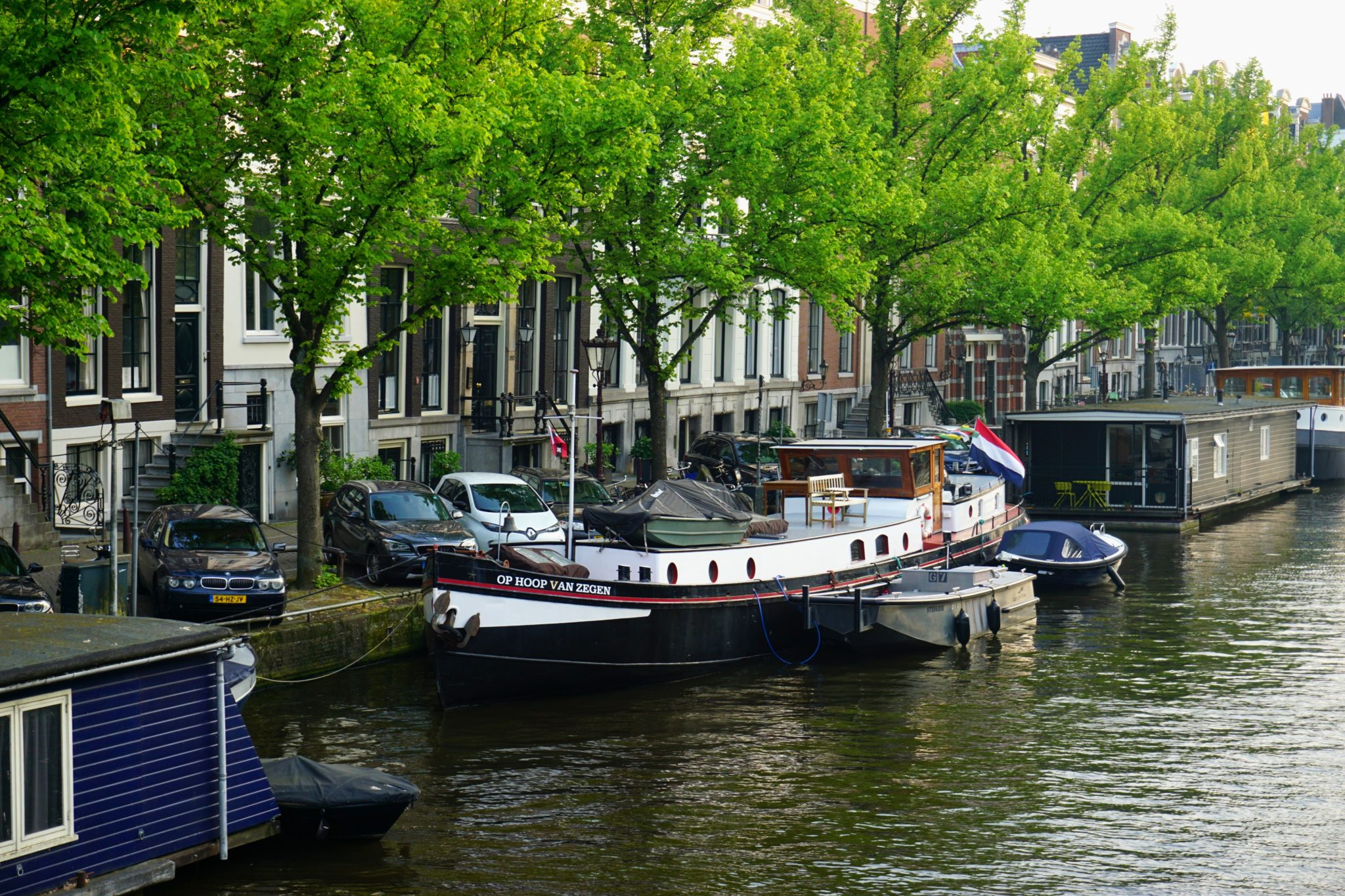 The canals of Amsterdam during the months of May.