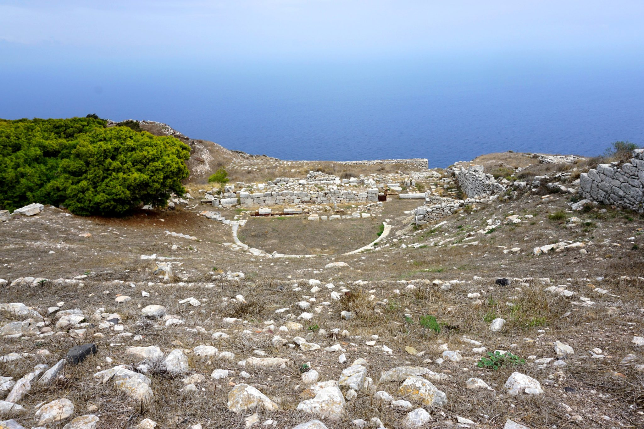 The theatre ruins in Ancient Thira.