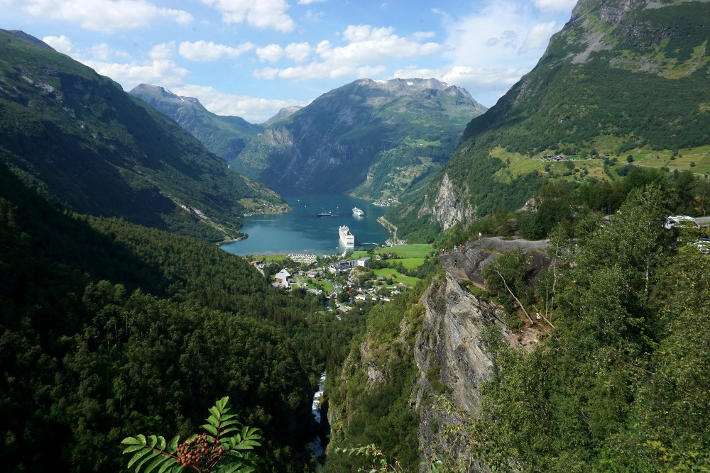 View of Geiranger from Flydalsjuvet.