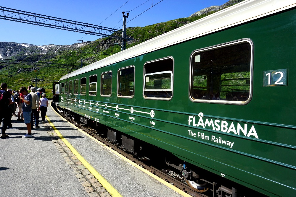 The only way to see the Kjosfossen is boarding the Flamsbana.