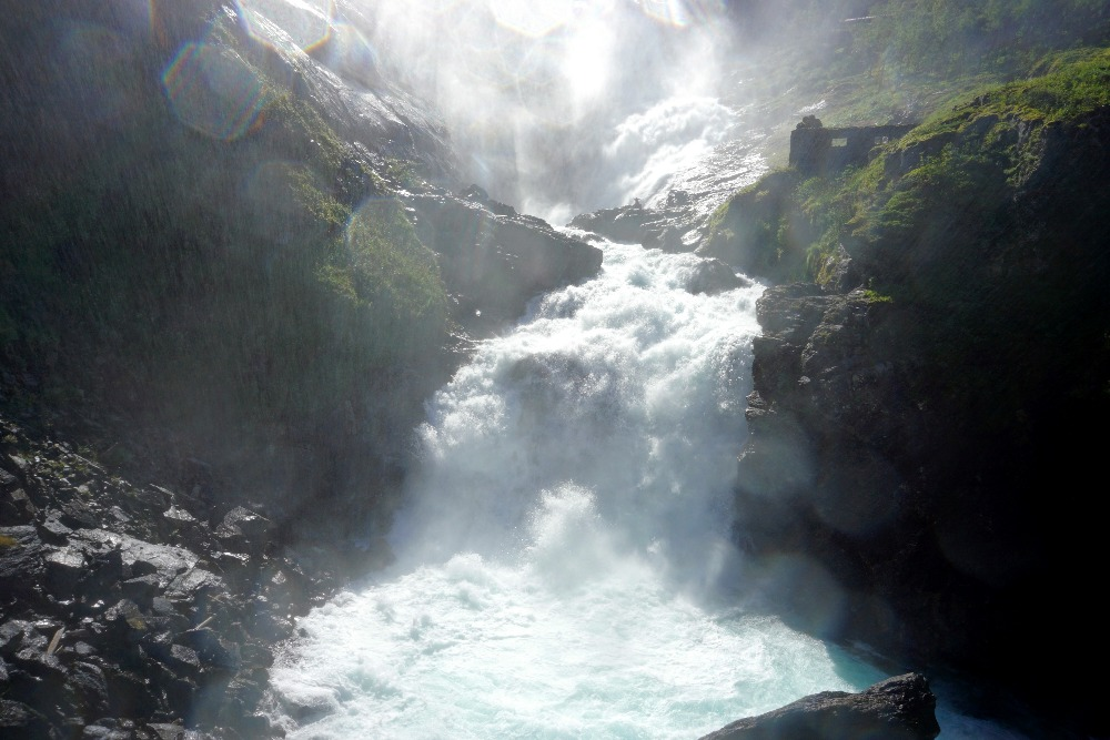 The Kjosfossen waterfall in Noway.