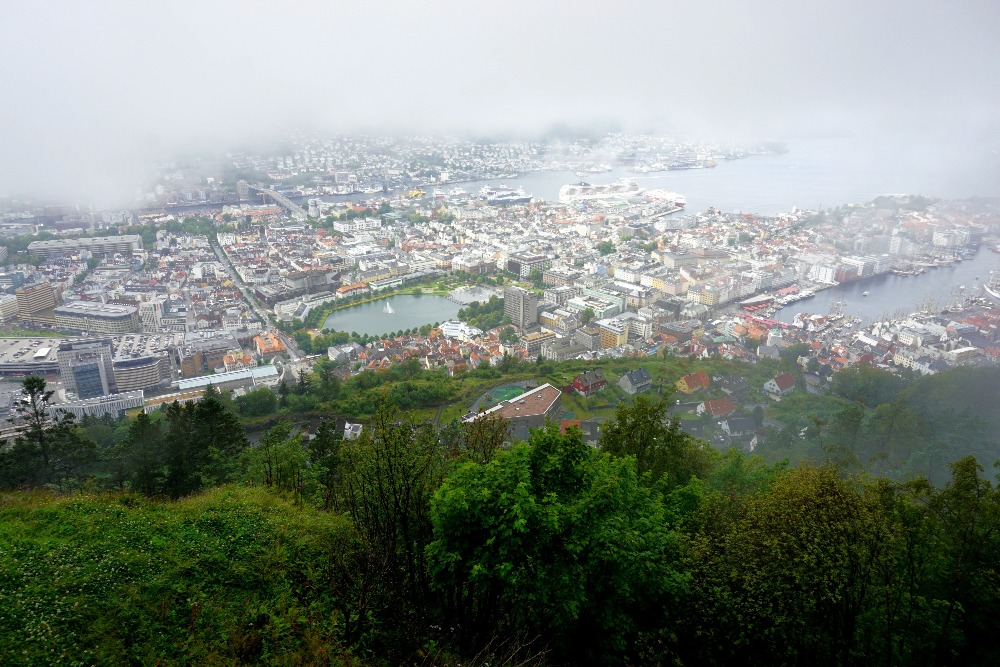 Misty view of Bergen.