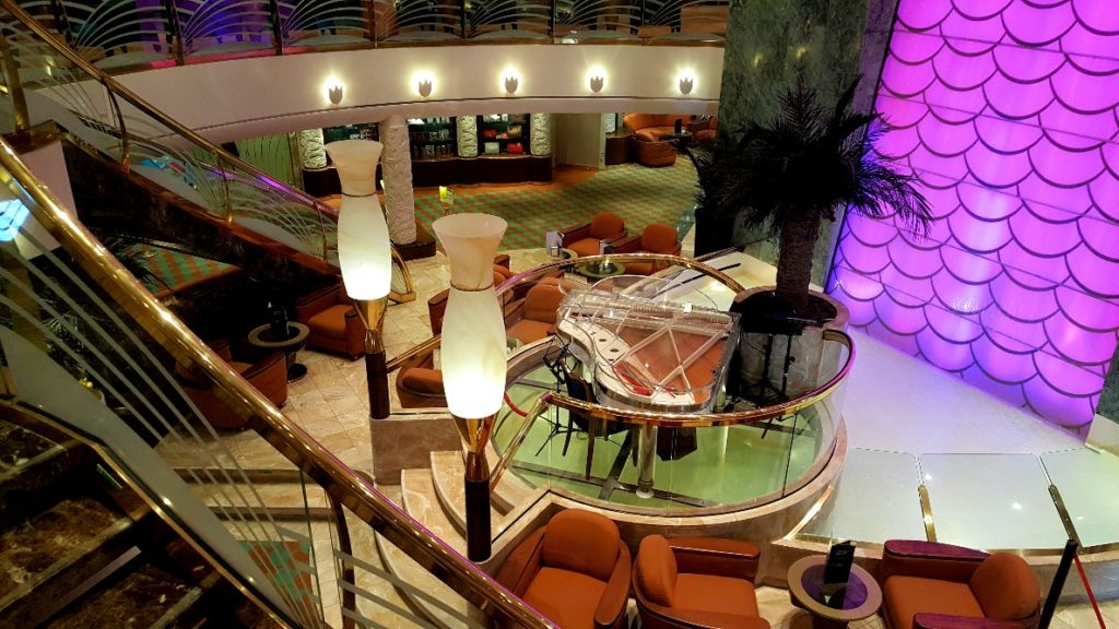 Public areas on board the MSC Poesia.