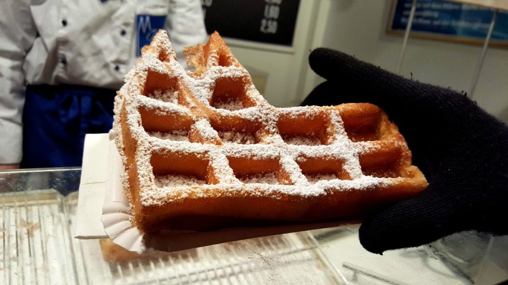 A delicious dom waffle.