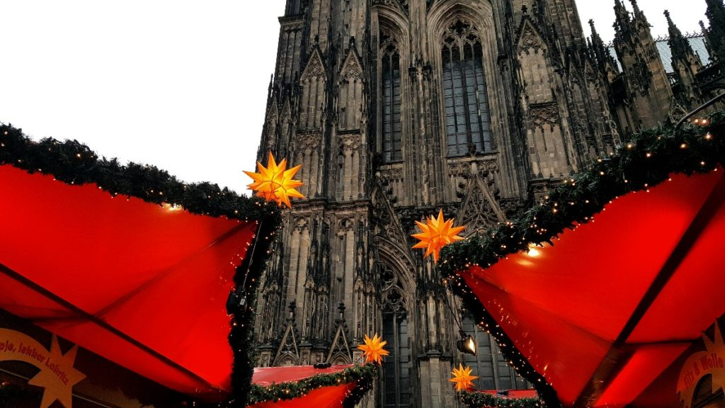 The Cologne Cathedral makes a beautiful backdrop for the Christmas market.