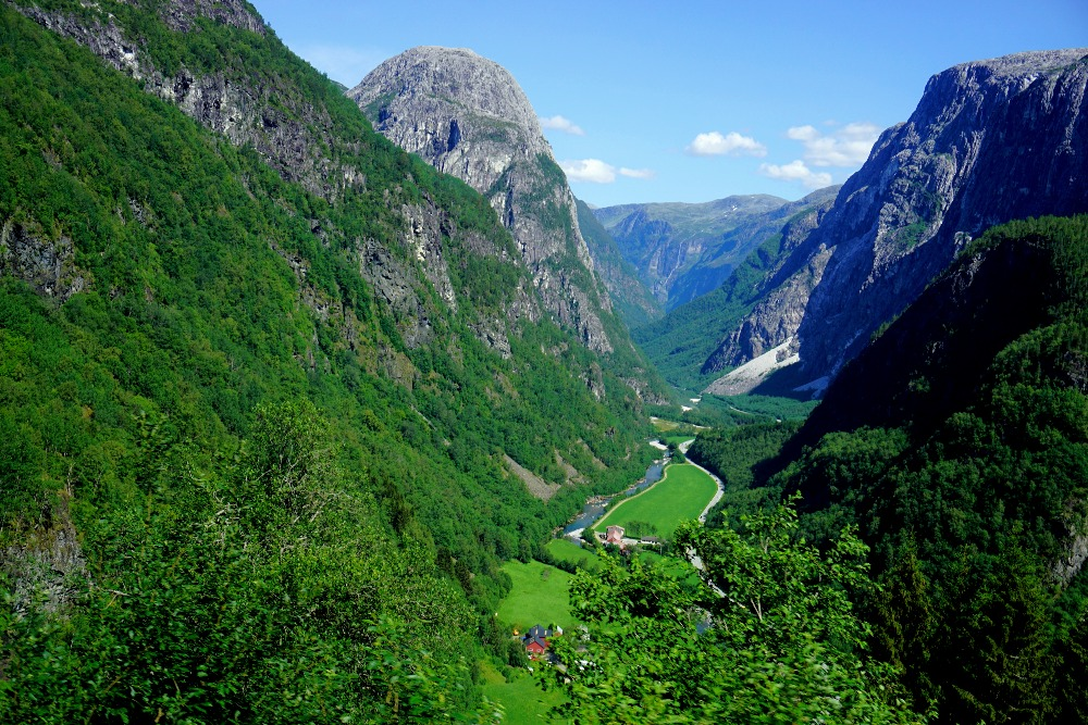 The spectacular Nærøydalen valley.