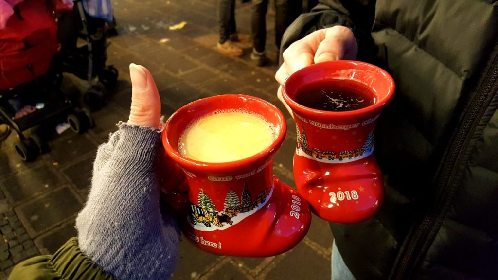 Drinks at the Nuremberg Christmas markets.