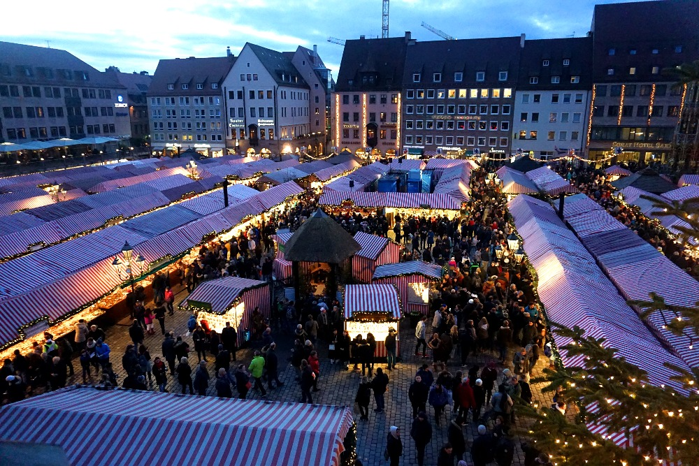 The best view of the Christkindlesmarkt.
